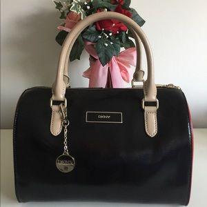 DKNY Leather Classic Barrel Bag